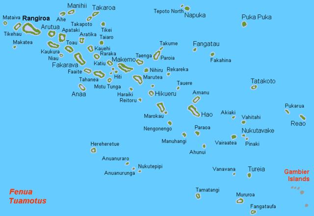 Wyspy Atoli Tuamotu (źródło: Wikipedia)