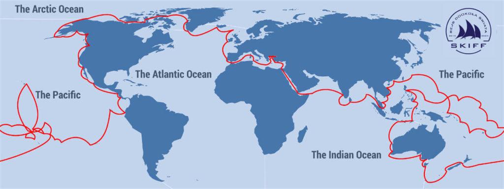 Trasa naszego Etapowego 6-letniego Rejsu Dookoła Świata
