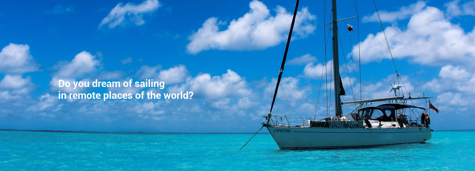 Yacht Crystal sailing round the world