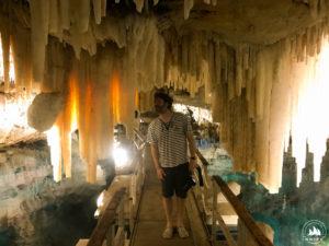 Michał w Crystal Cave