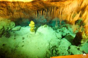 Najgłębsze miejsce Crystal Cave - 30m. Widzisz iPhone?