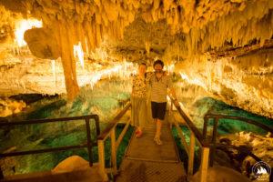 Ola i Michał w Crystal Cave