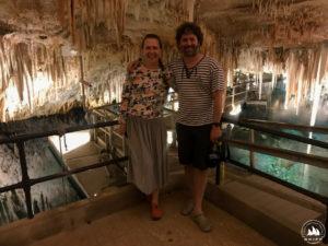 Ola Rapp i Michał Palczyński w Crystal Cave, Bermudy