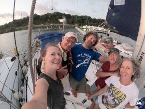 Rafa przeprowadzał nas przez Kanał Panamski pierwszego dnia. Fajny człowiek :)