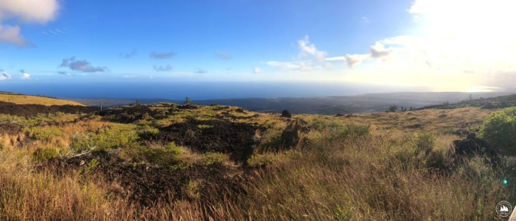 Big Island w dużej części pokryta jest zastygłą lawą