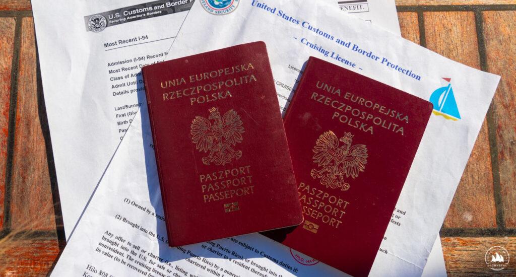 rejs morski USA paszporty i dokumenty