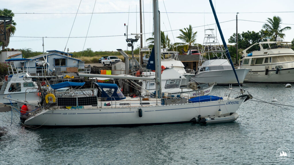 jacht Crystal w marinie Kona, Hawaje