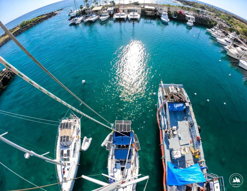 Jachty w marinie, Hawaje, Duża Wyspa