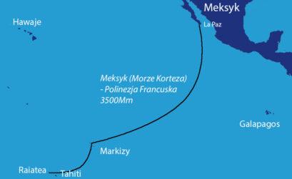 Oceaniczny rejs jachtem przez Pacyfik