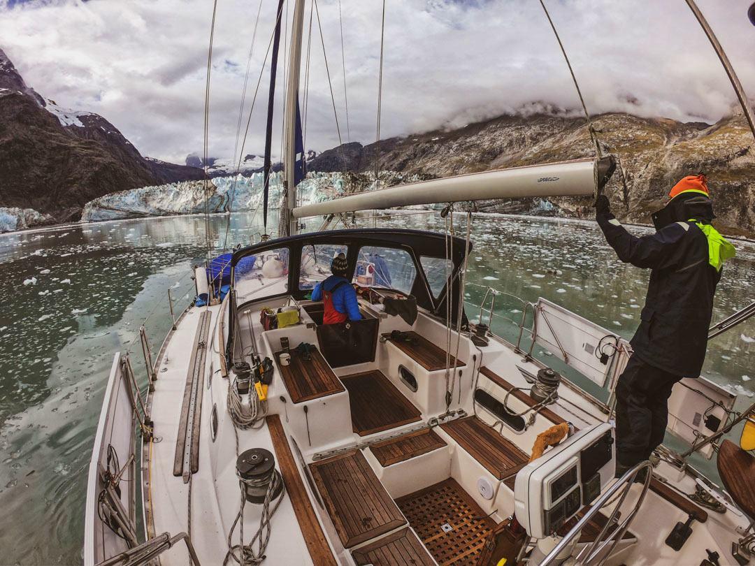 Jacht Crystal lodowiec Alaska